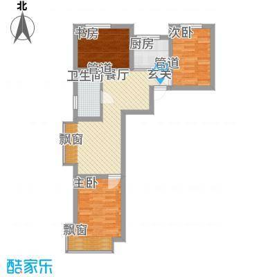 东亚印象台湖77.64㎡二期住宅A户型