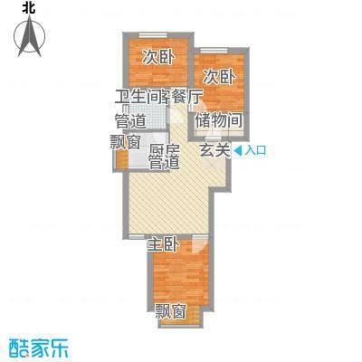 东亚印象台湖76.08㎡二期住宅H户型