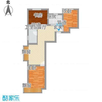 东亚印象台湖76.00㎡二期住宅A'户型