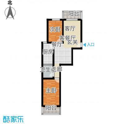 北京悦83.00㎡5号楼A4户型
