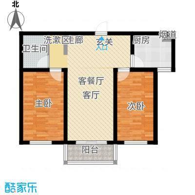 北京悦80.00㎡5号楼A5户型