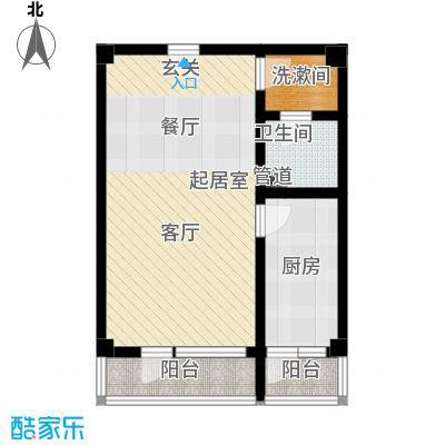 北京悦57.37㎡1号楼A3户型