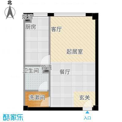 北京悦57.37㎡1号楼A1户型