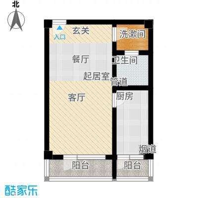 北京悦57.37㎡1号楼A2户型