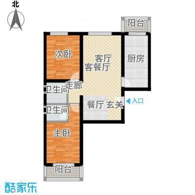 北京悦89.00㎡6号楼B1户型