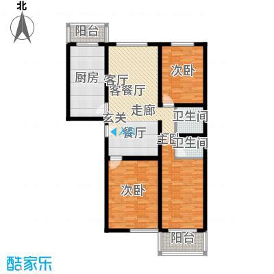 北京悦113.00㎡6号楼B2户型