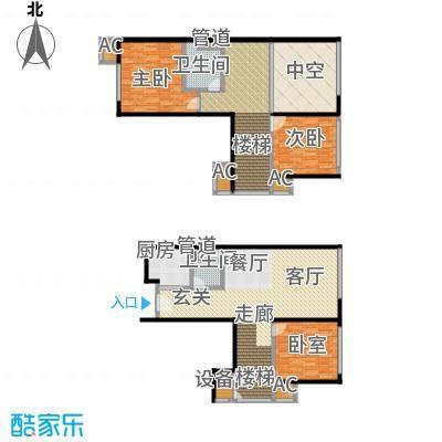 北京华贸城87.00㎡27、28号楼B-06户型