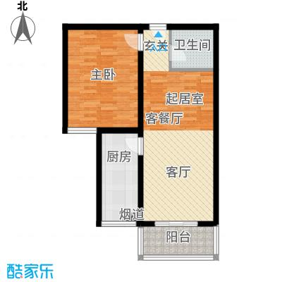北京悦75.00㎡6号楼B4户型