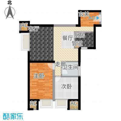 京贸国际城90.21㎡8号楼B户型