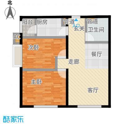 北京华贸城84.52㎡S04户型