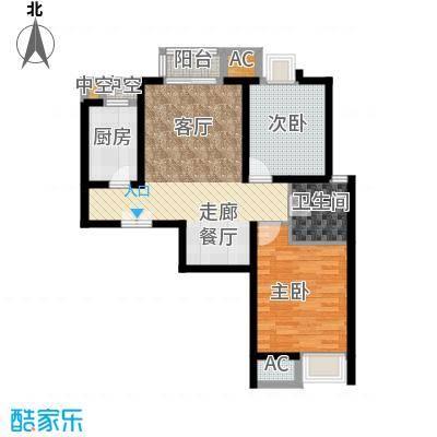京贸国际城90.00㎡5号楼e户型