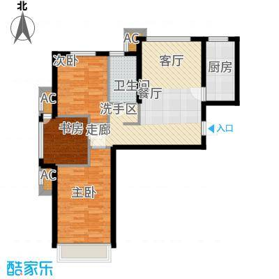 北京城建·上河湾88.00㎡北京城建・上河湾A1户型