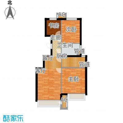 北京城建·上河湾93.00㎡北京城建・上河湾户型