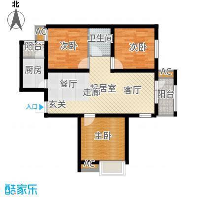 京汉铂寓105.32㎡3-D户型