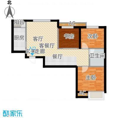 京汉铂寓105.18㎡2-D户型