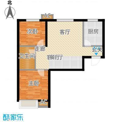 京汉铂寓86.68㎡1-A户型