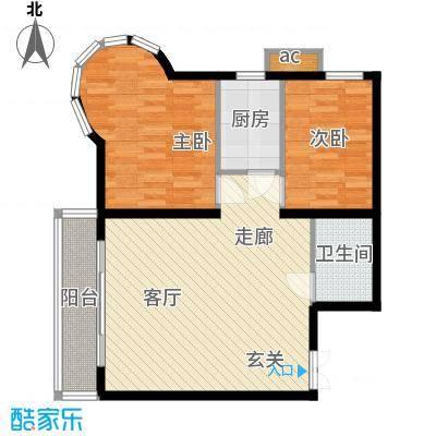 鸿盛凯旋门65.90㎡A户型
