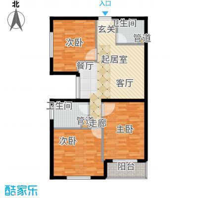 长安壹线81.65㎡一期G户型