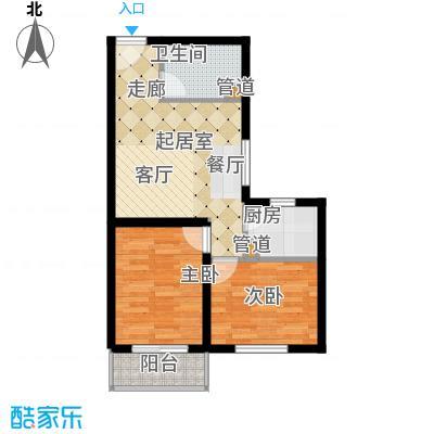 长安壹线65.66㎡一期J户型