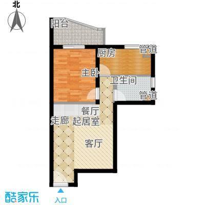 长安壹线55.77㎡一期F户型