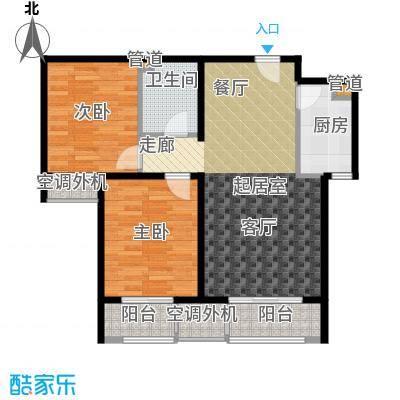 溪语蓝湾81.51㎡一期1#/3#B5#楼B/E户型