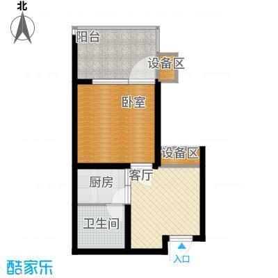 龙潭·温泉印象42.00㎡龙潭・温泉印象小区户型