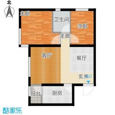 中加·博悦74.00㎡中加・博悦B5户型