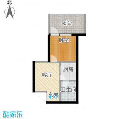龙潭·温泉印象44.00㎡龙潭・温泉印象小区户型