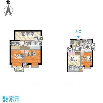 北京城建·海梓府94.00㎡北京城建・海梓府13、14、15、16号楼上跃B户型