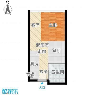 旭辉丽舍45.00㎡一期S1号楼329户型