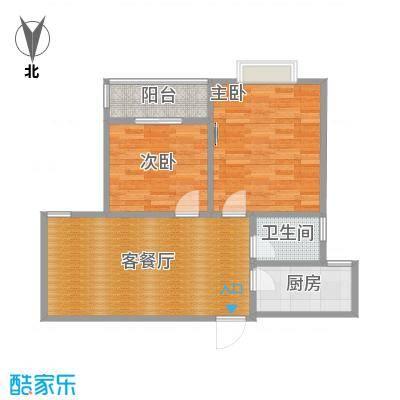 新光大厦96平B户型两室两厅