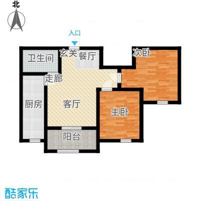 紫辰悦府82.00㎡一期1、2、3号楼N户型