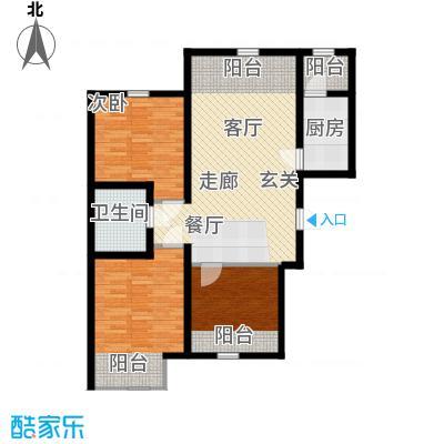 紫辰悦府93.00㎡一期1、2、3号楼L`户型