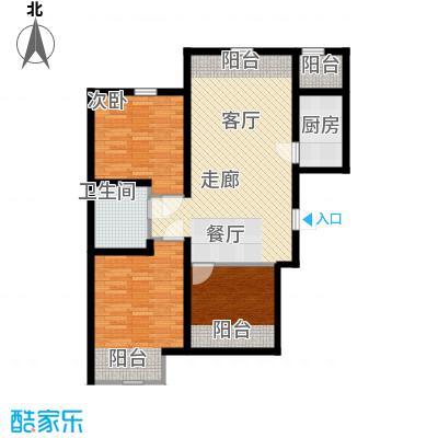 紫辰悦府93.00㎡一期1、2、3号楼L``户型
