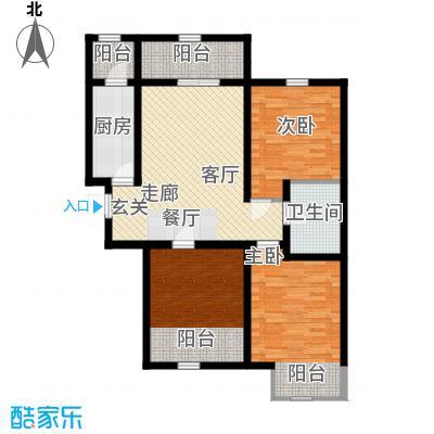 紫辰悦府95.00㎡一期1、2、3号楼M1户型
