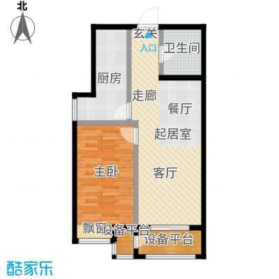 香邑溪谷68.00㎡二期A4户型