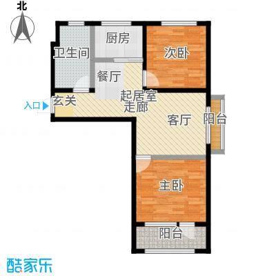 香邑溪谷82.26㎡双拼(售完)户型