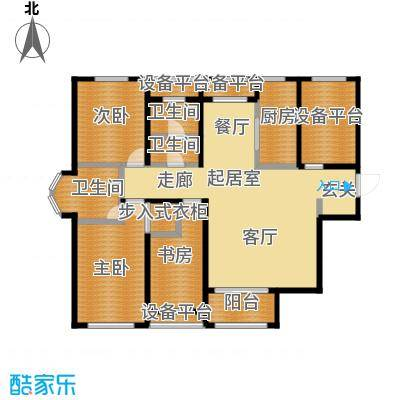 香邑溪谷132.00㎡二期A5户型