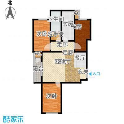 北京自在城111.71㎡一期、三期I户型