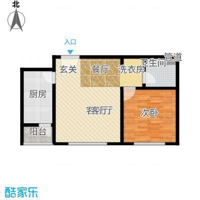 北京自在城58.30㎡一期、三期E户型