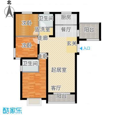 香榭家园122.46㎡一期C-2户型