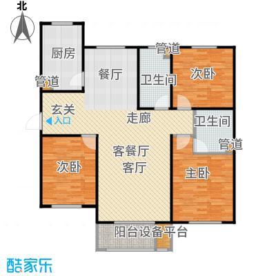 三田雍泓·青海城139.58㎡三田雍泓・青海城一期3号楼L户型