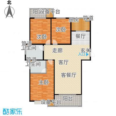 三田雍泓·青海城141.49㎡三田雍泓・青海城一期6号楼D2户型