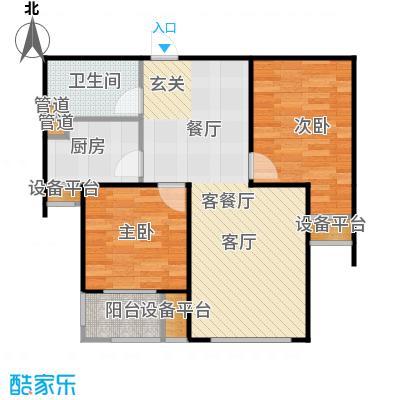 三田雍泓·青海城83.83㎡三田雍泓・青海城一期1号楼F2户型