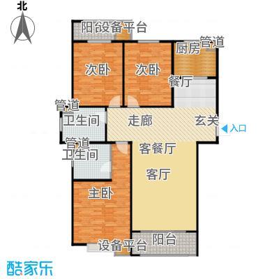 三田雍泓·青海城137.53㎡三田雍泓・青海城一期1号楼D4户型