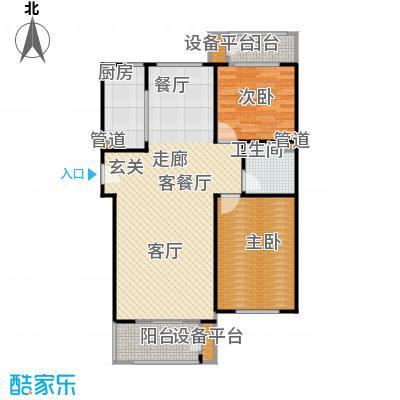 三田雍泓·青海城104.47㎡三田雍泓・青海城一期6号楼C户型