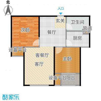 三田雍泓·青海城84.53㎡三田雍泓・青海城一期1号楼F1户型