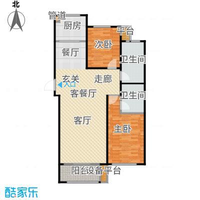 三田雍泓·青海城111.57㎡三田雍泓・青海城一期8号楼P户型