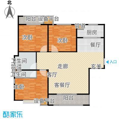 三田雍泓·青海城137.26㎡三田雍泓・青海城一期8号楼D3户型