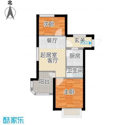 鸿坤·原乡小镇73.50㎡鸿坤・原乡小镇自由泉户型
